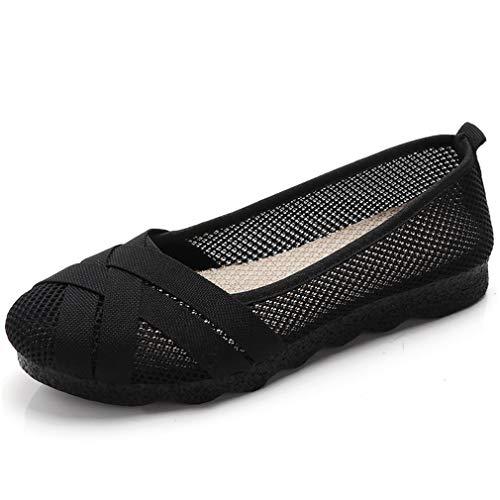 Mocassini Donna Ballerine Comode Loafers Scarpe da Guida Mesh Mary Jane Basse Scarpe da Barca Moda...