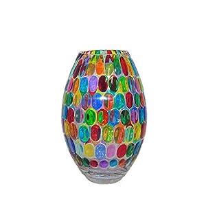 Bubble 260 Handbemalte Glasvase im Murano-Stil in Venedig