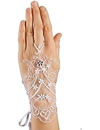 MGT-Shop Mädchen Kommunionshandschuhe Kommunionhandschuhe Blumenkinderhandschuhe MD62