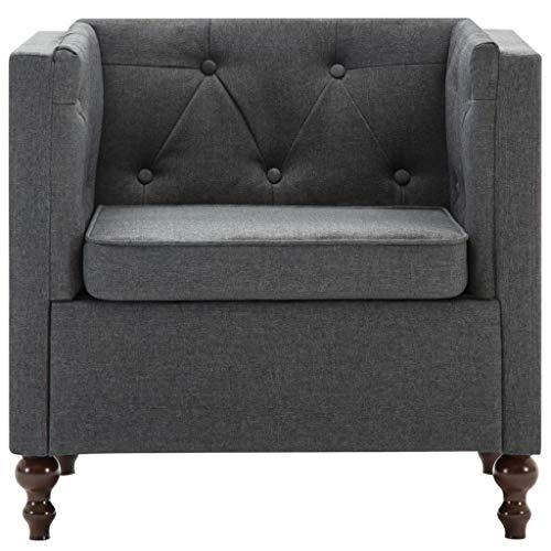 Tidyard- Sessel Stoffbezug Sofastuhl Wildleder-Optik Geeignet für Büro, Küche, Wohnzimmer, Schlafzimmer