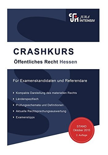 CRASHKURS Öffentliches Recht - Hessen: Länderspezifisch - Für Examenskandidaten und Referendare by Dirk Kues (2015-10-26)