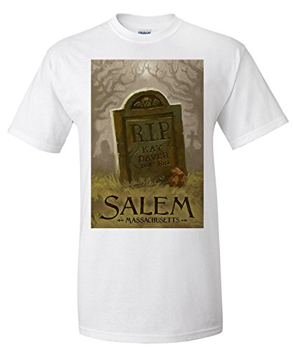 Salem, Massachusetts - Headstone - Halloween Oil Painting (Premium T-Shirt)