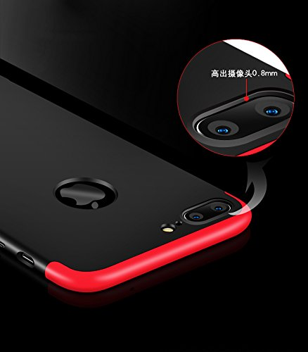 Ultra Slim Thin Custodia per iPhone 7Plus, MAOOY Luxury Hybrid 3in1 Hard PC Plastic Back Case con Utilizzo Completo per iPhone 7 Plus, Antiurto Antipolvere Antigraffio Ultra Protettiva per iPhone 7Plu Gold 2