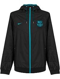 Nike M Nsw Wr Wvn Aut - Chaqueta línea F.C. Barcelona para hombre, color negro, talla L