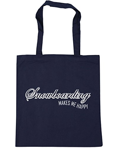 hippowarehouse-snowboarding-makes-me-happy-tote-shopping-gym-beach-bag-42cm-x38cm-10-litres