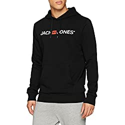 Jack & Jones Jjecorp Logo Sweat Hood Noos Shirt À Capuche, Noir (Black Detail:Reg Fit), X-Small Homme