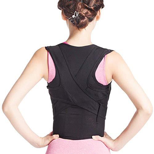 ZSZBACE Recta titular corrección postura espalda apoyo espalda corsé ajustable lumbar y cinturón inferior aliviar el dolor postura trimmer de cintura para hombres/mujeres (XXL)