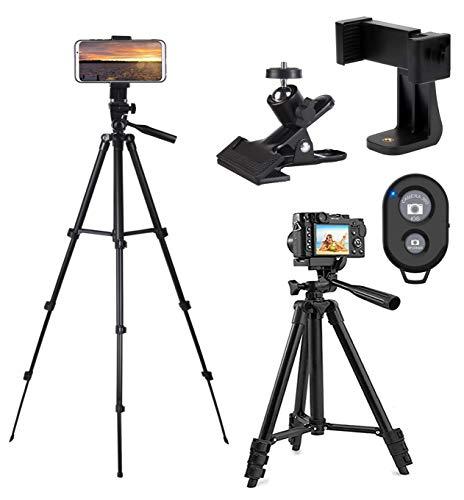 CCRoom 42 Treppiede di Cellulare Treppiede di Fotocamera Alluminio Supporto di Fotocamera Portabile con Telecomando Bluetooth e Clip da Montare