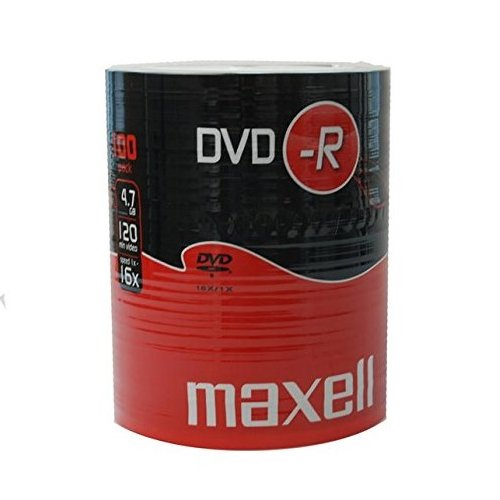 Dvd-r maxell 16x, 4,7gb in shrink da 100 pezzi
