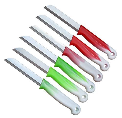 enmesser Wellenschliff | Messerset Solingen | Gemüsemesser scharf gezahnt/Welle/Schälmesser Obstmesser Allzweckmesser Bandstahl 8,5 cm Klinge ()