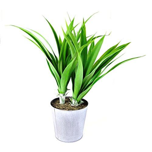 Kunstblume Agave im Zinktopf 70cm grün Dekopflanze Kunstpflanze Topfpflanze Deko