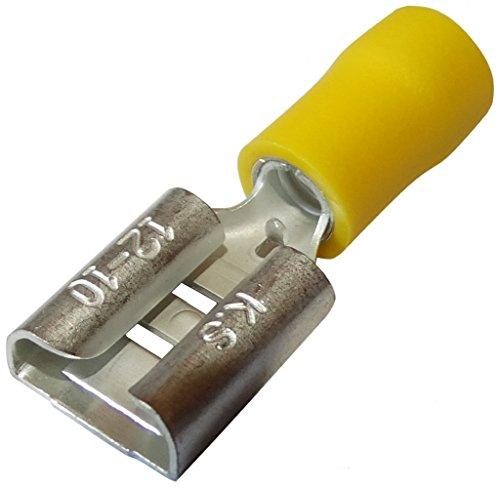 Preisvergleich Produktbild Aerzetix: 10 x Kabelschuhe Kabelschuh ( Klemme ) weiblich flach 9.5mm 1.2mm 4-6mm2 isoliert