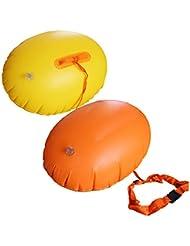 Sicherheit: Schwimm-Boje aufblasbar, GZQES, Schwimmer (PVC-Ball), Sicherheit beim Schwimmen, Airbag für Schwimmer, für Einsatz im Meer oder im See, Farbe zufällig.