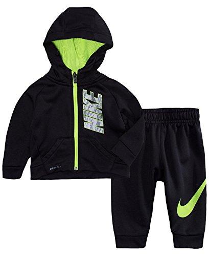 c8e5134029008 Nike bebé Boys  Therma-fit Sudadera con Capucha y Pantalones de Jogging 2  Piezas