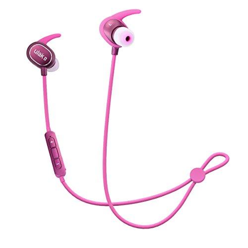 Auriculares Bluetooth, ULAK Wireless V4.1 Sport Headphones In Ear Stereo Estéreo Auriculares con APT-X / Mic para Apple iPhone 7 / 7Plus Samsung Galaxy S7 y teléfonos Android - Vino rojo