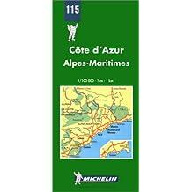Carte routière : Côte d'Azur - Alpes Maritimes, N° 115