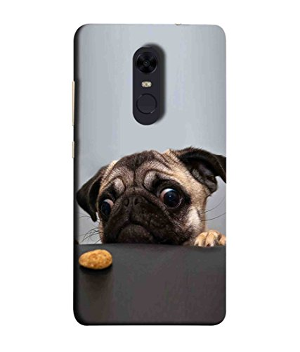 Back Cover for Redmi Note 4 - Pug Dog Trying to Get Food Premium Printed Back Cover - Multi Color Printed Back Case from Printfidaa