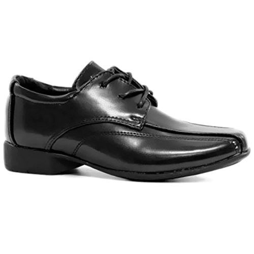 Chaussures formelles pour enfant/garçon Idéal pour rentrée scolaire/mariage/uniforme Fermeture Velcro avec gousset Similicuir Black / Lace Up