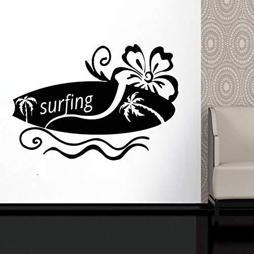 Dongwall Surfbrett Vinyl Wand Applique Surf Sport Enthusiasten Abenteuer Meer Teen Schlafzimmer Schule Schlafsaal Wohnkultur Applique 60 * 42cm -