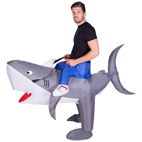 Kostümen Hai (Aufblasbares Hai-Weißer-Kostüm für)