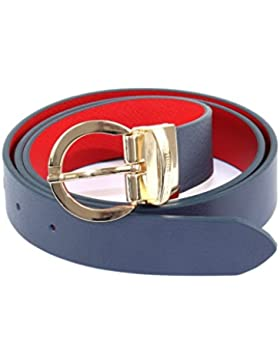 TOMMY HILFIGER Twist Belt 3.0 W75 Midnight / Scooter Red