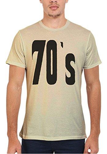70's Retro Vintage Funny Men Women Damen Herren Unisex Top T Shirt Sand(Cream)
