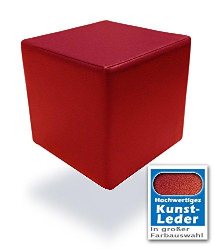 Unbekannt Spielpolster Schaumstoffwürfel in Rot mit hochwertigem Kunstlederbezug und...