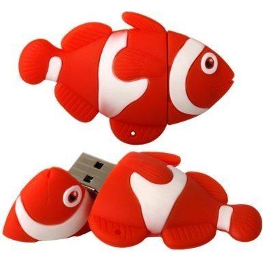 Xiton 4gb della novità dei pesci usb 2.0 flash drive data memory stick dispositivo