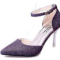 GS~LY Da donna-Tacchi-Casual-A punta-A stiletto-Lustrini-Nero / Viola / Bianco / Dorato , purple-us8 / eu39 / uk6 / cn39 , purple-us8 / eu39 / uk6 / cn39