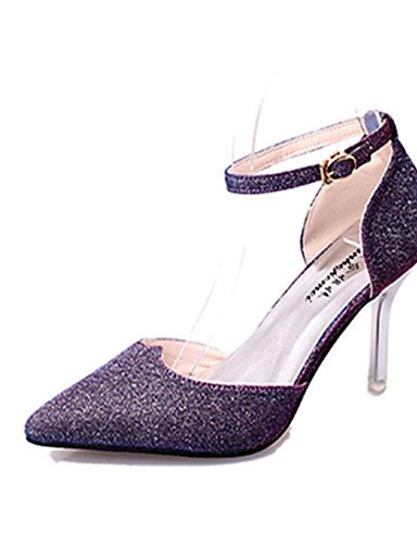 GS~LY Da donna-Tacchi-Casual-A punta-A stiletto-Lustrini-Nero / Viola / Bianco / Dorato white-us5.5 / eu36 / uk3.5 / cn35