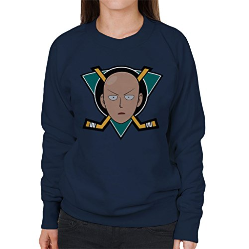 One Punch Man Saitama Nintendo Women's Sweatshirt Navy blue