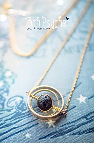 Halskette aus Asteroiden, Halskette aus Meteoriten, Juwel der Galaxie, rotierende Halskette, rotierender Anhänger, Weltraumjuwel, Halskette der Astronomie, Halskette aus Lavastein, Geschenk für sie Galaxy Juwelen