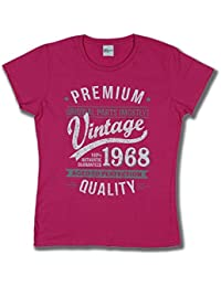 1968 Vintage Year - Aged To Perfection - 50th Birthday Gift / Present Lady Fit T-Shirt