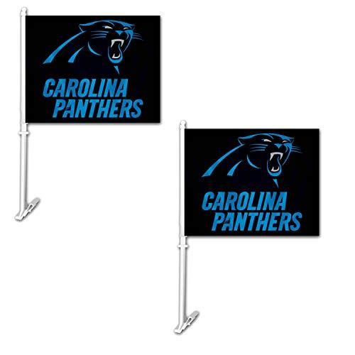 les National Football League Fan Shop Authentische NFL 2er Pack Auto Fenster Flaggen. Show Team Stolz mit Diesen 29,2x 36,8cm Fenster Flaggen, Carolina Panthers ()