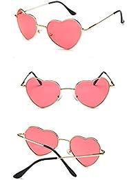 02de70af66 Easy Go Shopping Gafas de Sol del corazón Marco de Metal Delgado Estilo  Encantador del Aviador