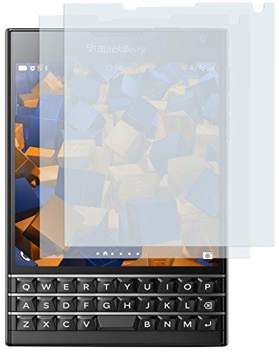 mumbi Schutzfolie kompatibel mit Blackberry Passport Folie klar, Displayschutzfolie (2x)