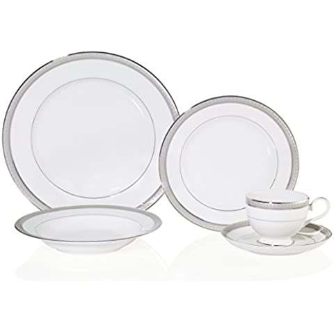 Mikasa Platinum Crown 5-Piece Place Setting, Service for 1 by Mikasa