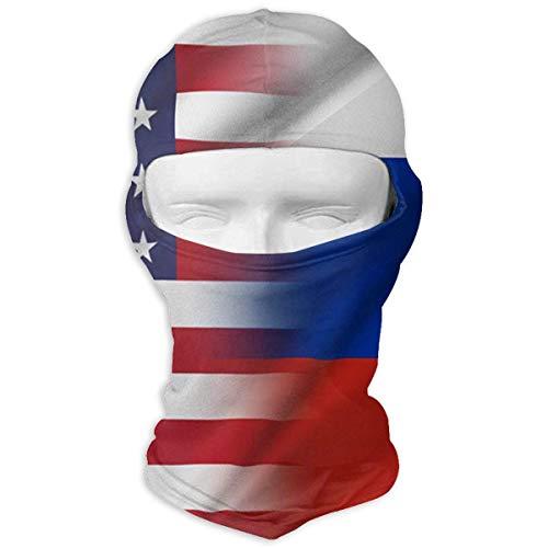 Bikofhd Halstuch Sonnencreme Hüte Ski Maske amerikanische Flagge und Russland Flagge Sun UV-Schutz Staubschutz Winddicht Gesichtsmaske für Laufen Radfahren Angeln Multicolor14 Fun-ski Hüte