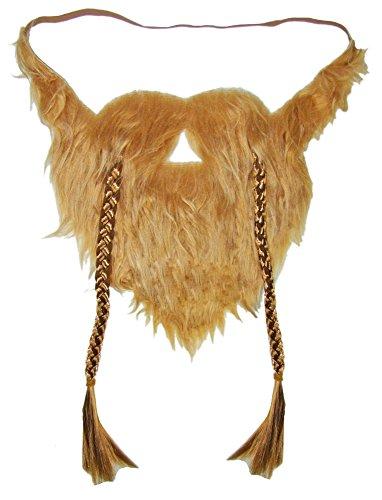Kostüm Vollbart - Körner Festartikel Wikinger Bart zum Kostüm - Vollbart Rotblond zum Umhängen für Erwachsene