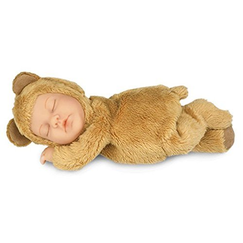 Anne Geddes Light Brown Baby Bear Doll / Hellbraun Teddybär-Puppe