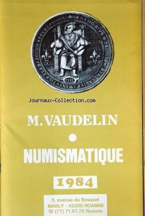 NUMISMATIQUE du 01/01/1984