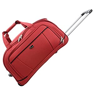 "JAM Traveller 26"" Red Holdall Trolley Bag Case Wheeled Travel Luggage Suitcase from JAM"