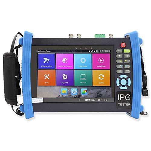 Iycorish 7 Zoll Alle In Einem 1080P Retina Display Ip Kamera Tester Sicherheit Cctv Tester Monitor Mit Sdi/Tvi/Ahd/Cvi/Poe/Wifi/4K H.265/HDMI In Und Aus/Firmware 8600Adhs-Plus(Eu Stecker) Ge-cctv-kameras