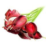 EWEFWFYT Calla Lily Künstliche Blumen für Hochzeit Tischdekoration Event Party Supplies 12 stücke Real Touch Dekorative Künstliche Blume