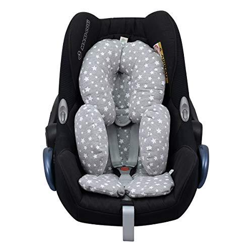 Janabebe riduttore universale per il trasporto del bambino maxicosi, culla, seggiolino auto, passeggino (white star)
