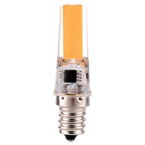 Led Light 5PCS Dimmable 3W E12 2508 COB 200-300 Lm AC 220-240 V / AC 110-130 V calientan la luz blanca fresca blanca de la decoración (5PCS) ( Color : Warm White , Size : 220-240V )
