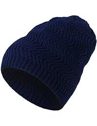 Kobay Unisex Uomo Donna Caldo Inverno Berretto in Maglia Rigata Cappello Sci  Slouchy cap Head b7a46c08fb31
