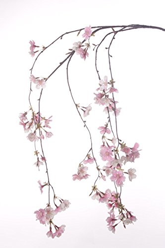 artplants Albero di ciliegio Finto Kagami, 90 Fiori, Rosa, 120 cm - Ciliegio Artificiale/Pianta Decorativa