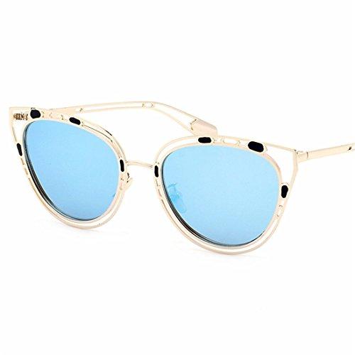 GUO Die Sonnenbrille ist klein Gesicht Frauen UV-Retro Sonnenbrille,