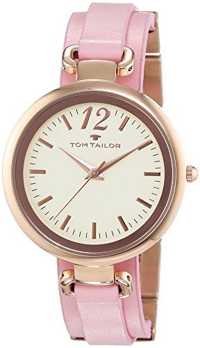 TOM TAILOR Damen-Armbanduhr Analog Quarz Leder 5412005